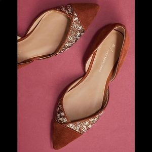 Anthropologie Pointed D'Orsay Flats